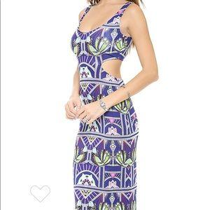 Mara Hoffman maxi dress with cut out back XS